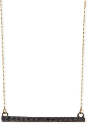 Armenta Old World Midnight Black Sapphire Bar Pendant Necklace
