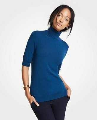 Ann Taylor Petite Elbow Sleeve Turtleneck