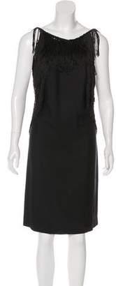 3.1 Phillip Lim Silk Fringe-Trimmed Dress