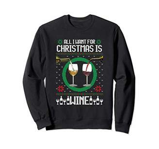All I Want For Christmas Is Wine | Funny Wine Lover T-Shirt