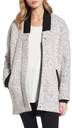 Women's Guess Oversize Boucle Jacket $228 thestylecure.com