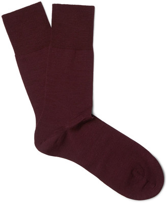 Falke Airport Mélange Virgin Wool-Blend Socks $28 thestylecure.com