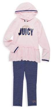 Juicy Couture Girl's Two-Piece Hoodie & Leggings Set