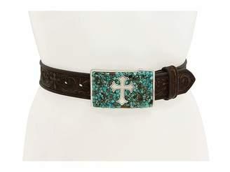 M&F Western Turquoise Stone Cross