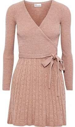 RED Valentino Wrap-Effect Metallic Wool-Blend Mini Dress
