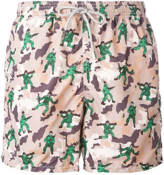 MC2 Saint Barth military print swim shorts