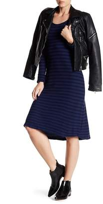 Velvet by Graham & Spencer Peony Striped Long Sleeve Dress
