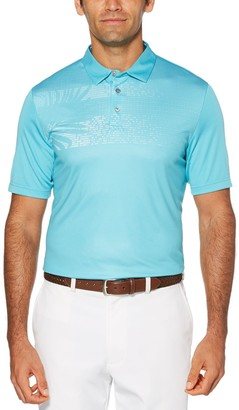 Men's Grand Slam Driflow Slim-Fit Tropical Performance Golf Polo