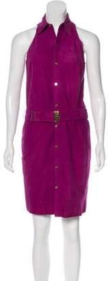Ralph Lauren Sleeveless Suede Dress