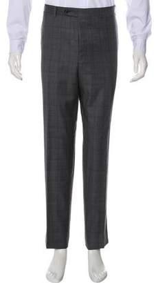 Canali Check Wool Dress Pants