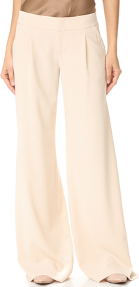 alice + olivia Eric Wide Leg Pleat Front Pants $275 thestylecure.com