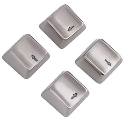 WANT Cool Zinc Alloy Up Down Left Right Direction 4 Key Caps Mechanical Keycap Keyset For Mechanical Gaming Keyboards