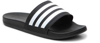 Women's Adilette Cloudfoam Ultra Stripes Slide Sandal -Black/White $35 thestylecure.com
