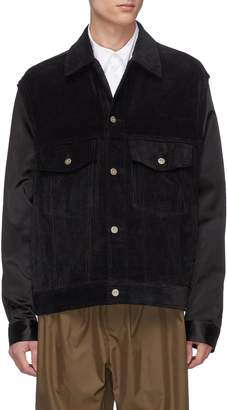 Song For The Mute Corduroy panel shirt jacket