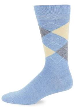 Black & Brown Black Brown Argyle Print Socks