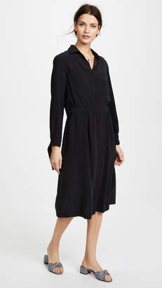 Vince Slit Back Shirtdress