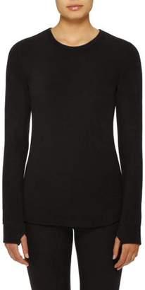 b588694987a294 Cuddl Duds ClimateRight by Women's Stretch Fleece Warm Underwear Long  Sleeve Top