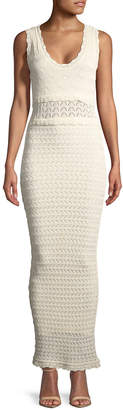 Ronny Kobo Noria Open-Knit Dress