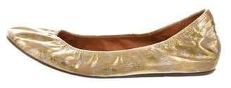Lanvin Metallic Ballet Flats