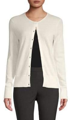 Saks Fifth Avenue BLACK Buttoned Cashmere Cardigan