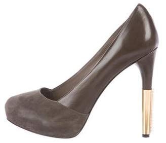 Maiyet Leather Round-Toe Pumps