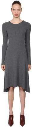 Tory Burch Halle Merino Wool Ribbed Knit Dress