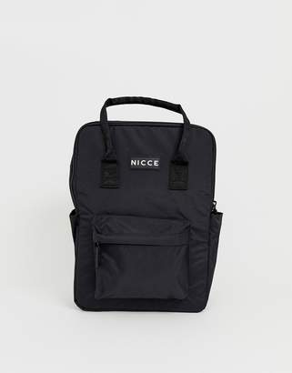 Nicce backpack in black with top handle