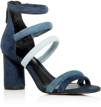 Rebecca Minkoff Women's Andree Suede Color-Block Ankle Strap High Heel Sandals