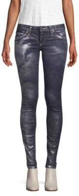 Metallic Stretch Jeans