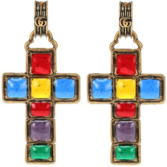 Gucci Cross pendant earrings