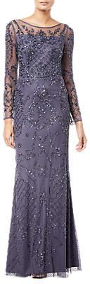 Long Sleeve Embellished Dress, Gunmetal