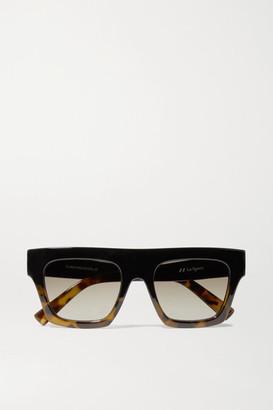 Le Specs Subdimension D-frame Tortoiseshell Acetate Sunglasses - Black
