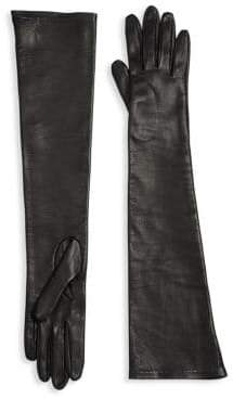 Long Silk-Lined Leather Gloves