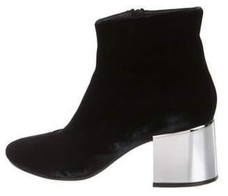 MM6 MAISON MARGIELA Velvet Ankle Boots