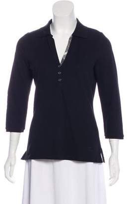 Burberry Collared Long Sleeve Top