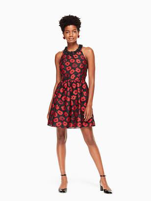 Kate Spade Poppy jacquard dress