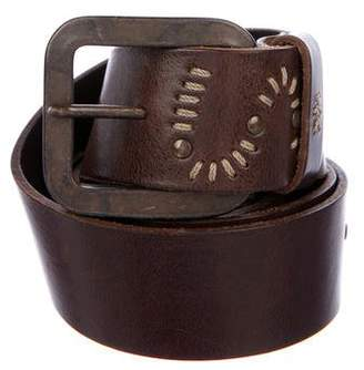Henry Beguelin Embroidered Leather Belt