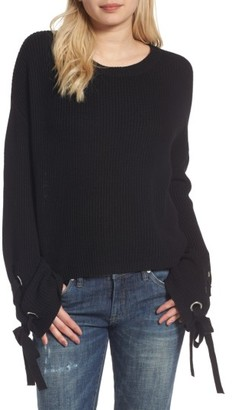 Women's Love By Design Grommet Sleeve Pullover $65 thestylecure.com