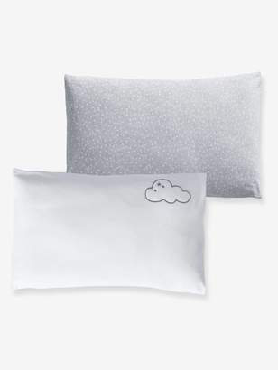 Vertbaudet Set of 2 Pillowcases, Stars & Clouds Theme