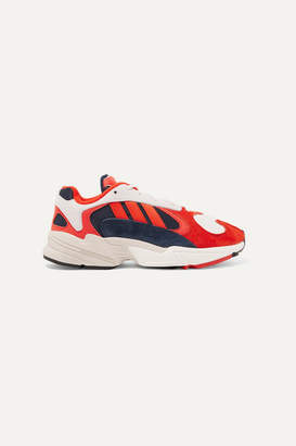 adidas Yung 1 Nubuck And Mesh Sneakers - Red