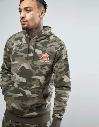 Ellesse hoodie with small logo in camo