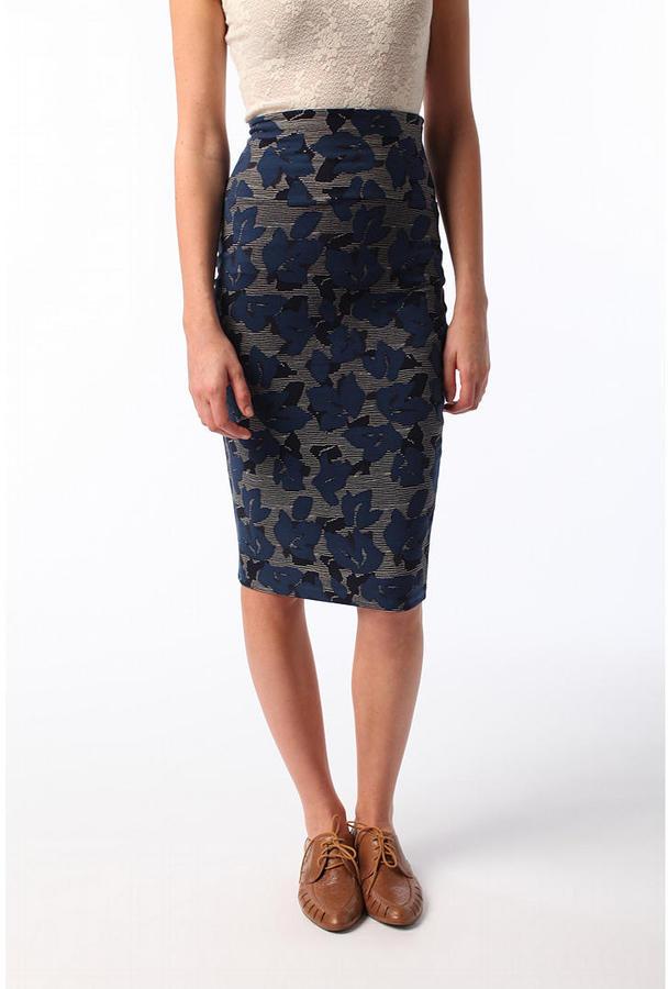 Ecote Knit Pencil Skirt