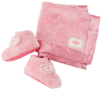 UGG Bixbee Booties & Lovey Baby Blanket Set