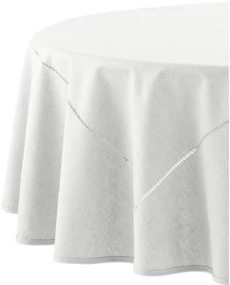 Distinctly Home Hemstitch Linen Blend Tablecloth