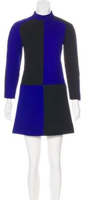 Courreges Colorblock Wool Dress