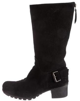 Aquatalia Suede Mid-Calf Boots