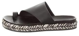 Sigerson Morrison Leather Jute Flat Espadrille