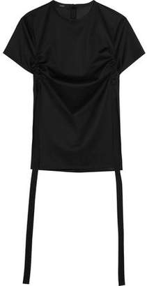 Ellery Menagerie Canvas-Trimmed Cotton-Jersey Top