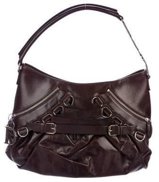 Christian Dior Leather Ballet Handle Bag