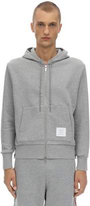 Thom Browne ZIP-UP COTTON SWEATSHIRT HOODIE